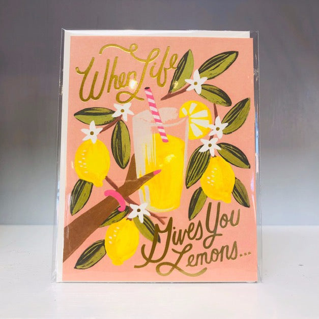 Lemons to Lemonade Greeting Card