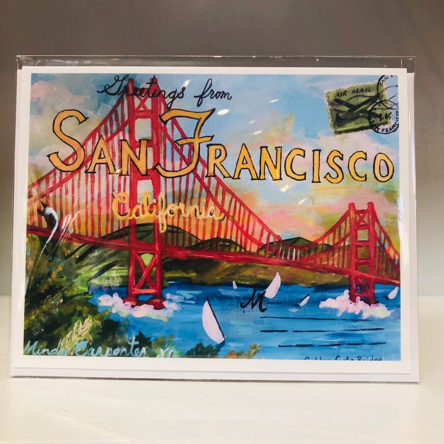 Greetings From SF Greeting Card