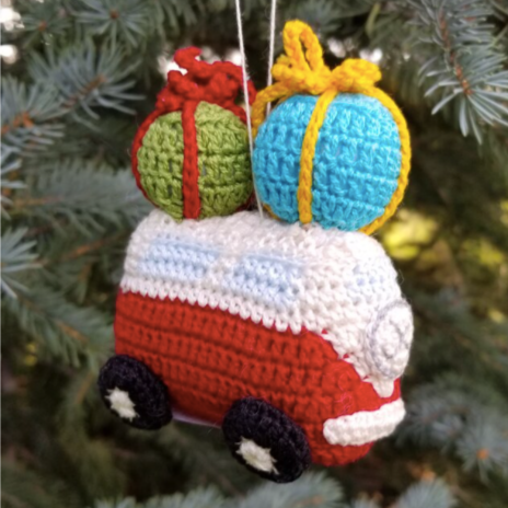 Van with Gifts Ornament
