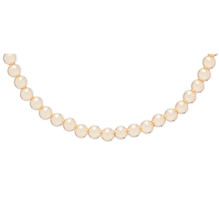 Classic Gold 4mm Bead Choker 17""