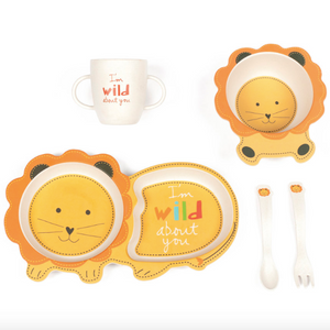 """Ryan the Lion"" Eating Set"