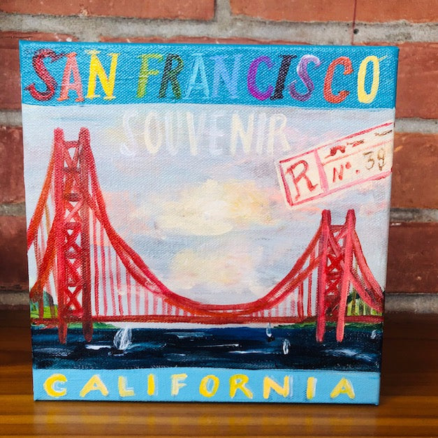 """San Francisco"" painting by Mindy Carpenter"
