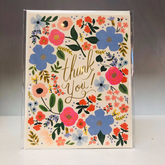 Wild Rose Thank You Greeting Card