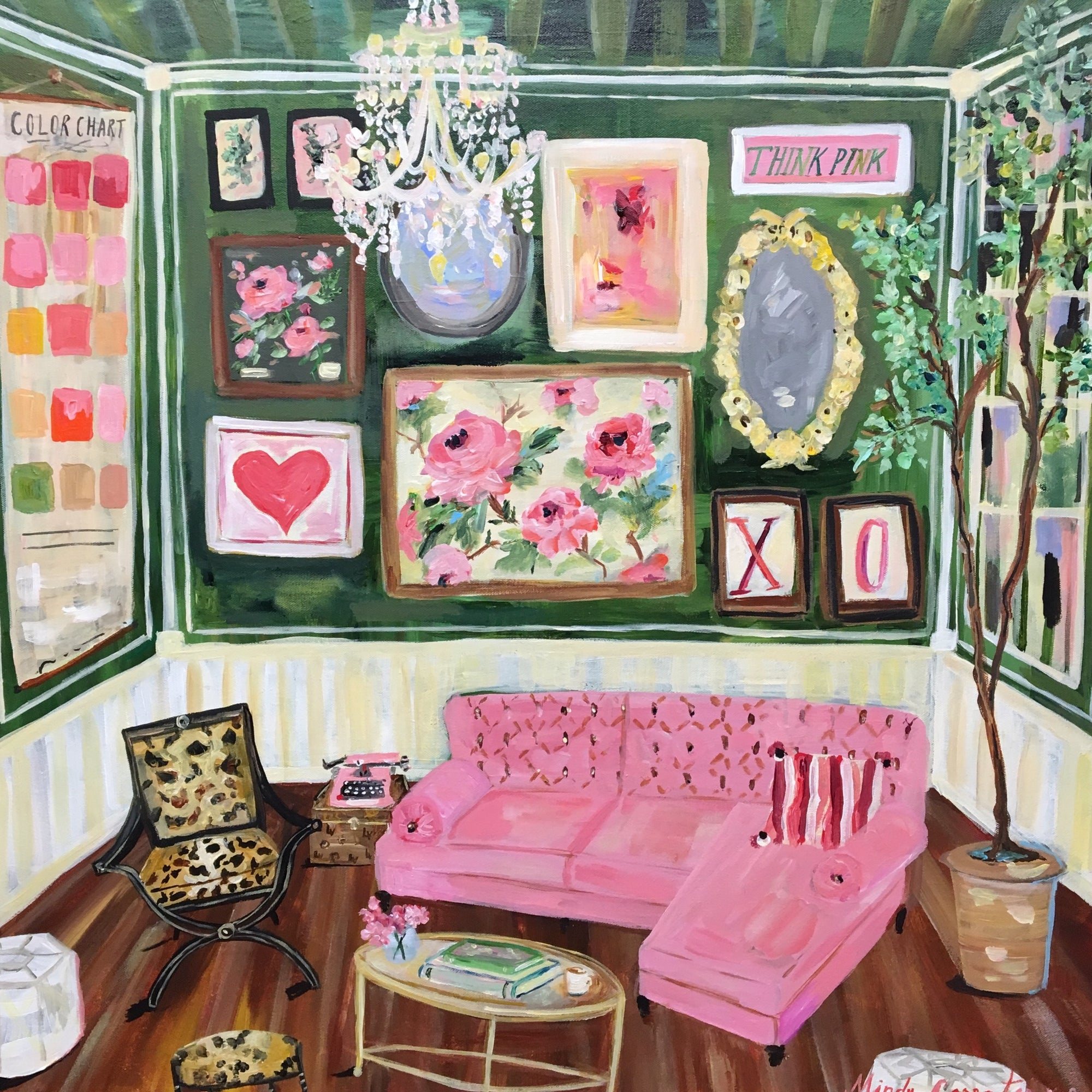 """Pretty In Pink"" painting by Mindy Carpenter"