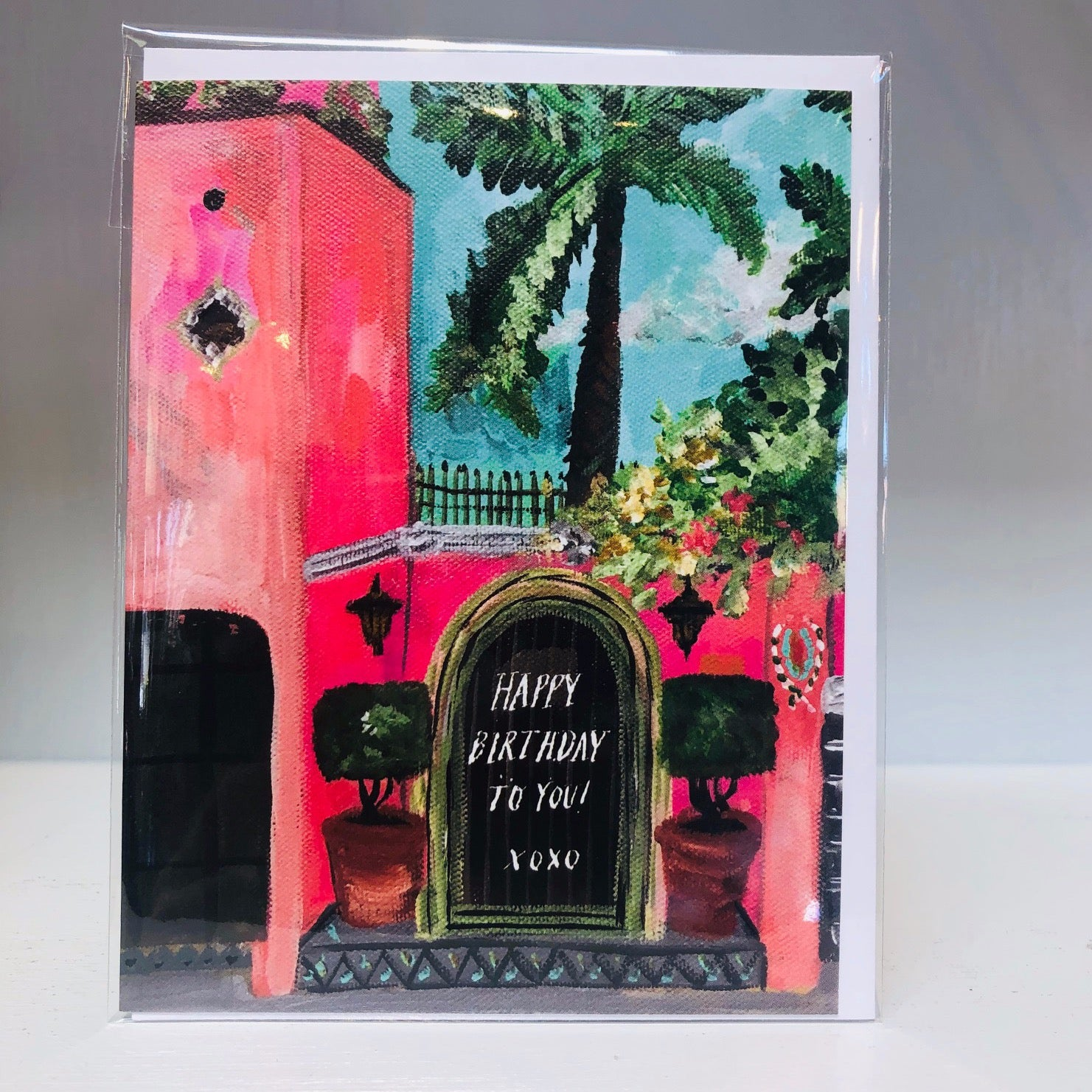 Birthday Hacienda Rosa Greeting Card