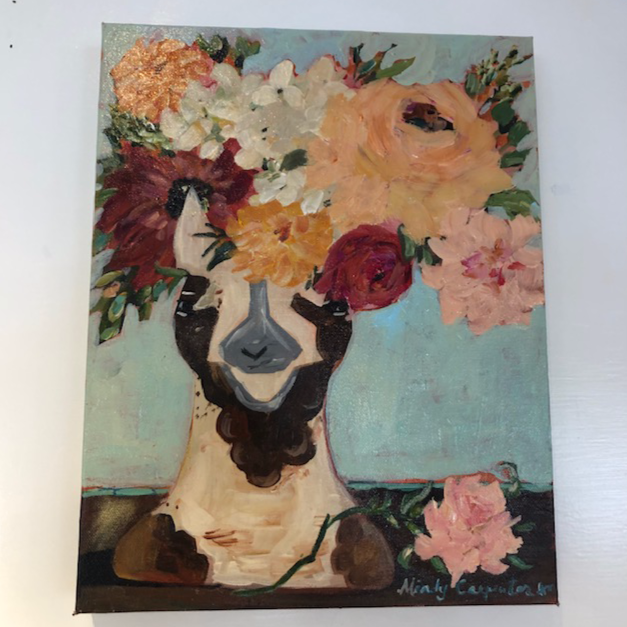 """Llama Floral"" painting by Mindy Carpenter"