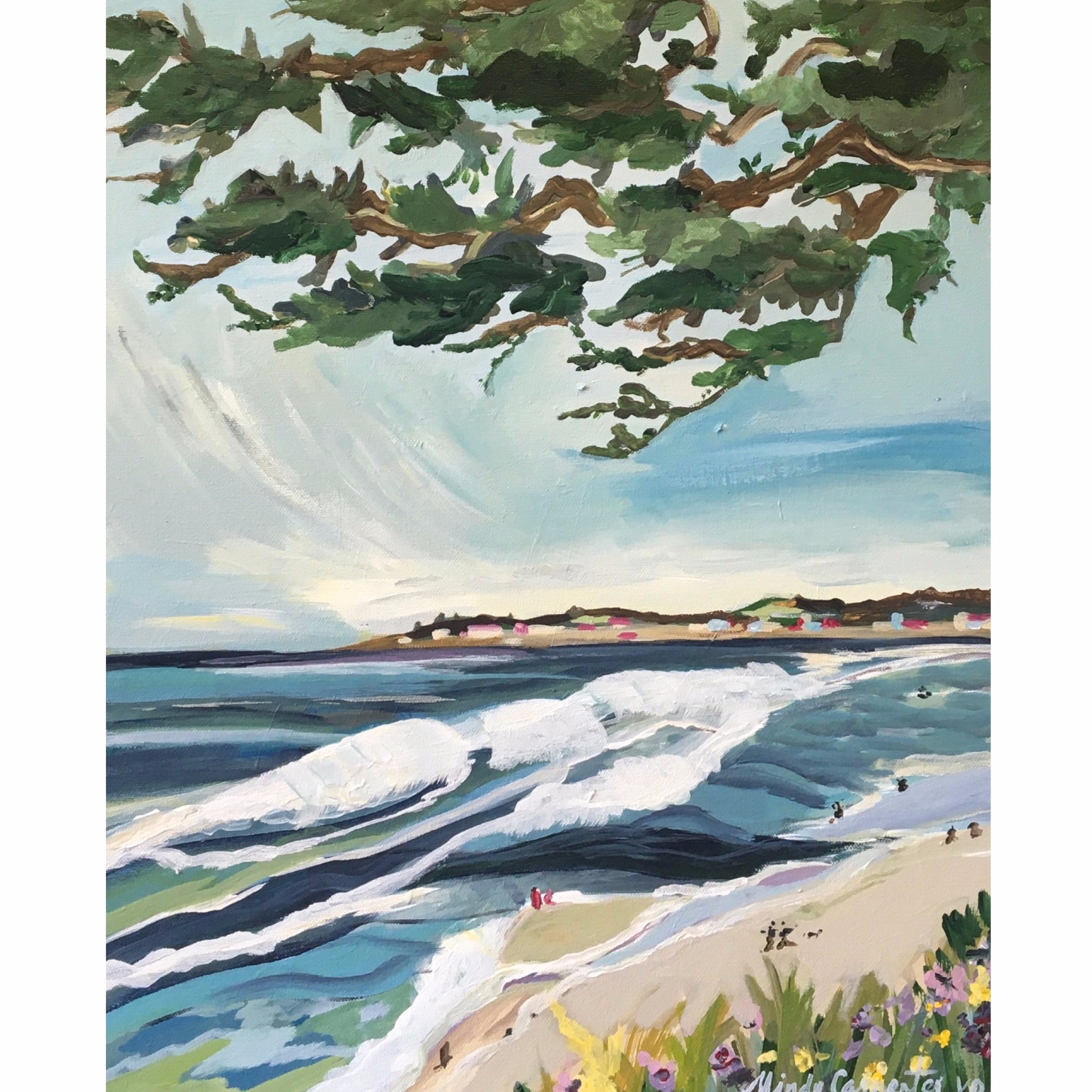 """Carmel Beach View"" painting by Mindy Carpenter"