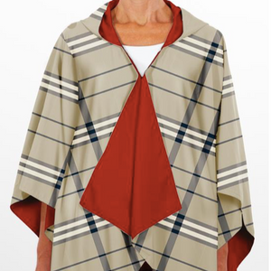 RAINRAP Jester Red & Plaid Hooded