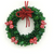 Beaded Wreath Ornament, Red Berries