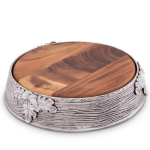 Acorn Oak Leaf Cheese Pedestal