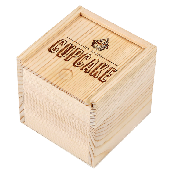 """Hey Cupcake"" Sweets Wood Box"