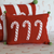 Candy Cane Mini Pillow, Red