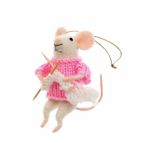 Knitting Nadine Mouse Ornament