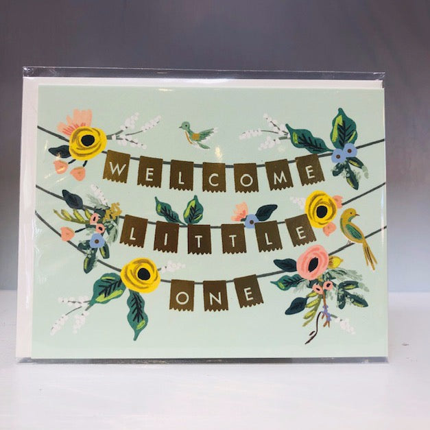 Welcome Garland Greeting Card