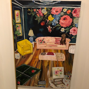 """Fancy Game Parlour"" painting by Mindy Carpenter"