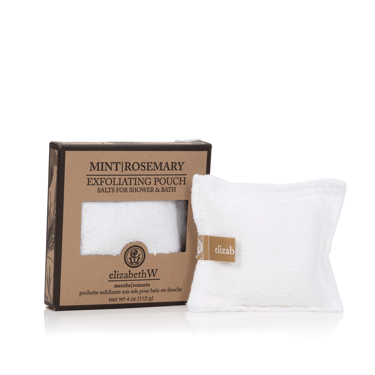 Mint Rosemary Exfoliating Pouch