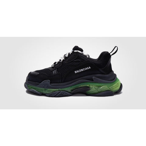 BALENCIAGA TRIPLE S TRAINER BLACK GREEN
