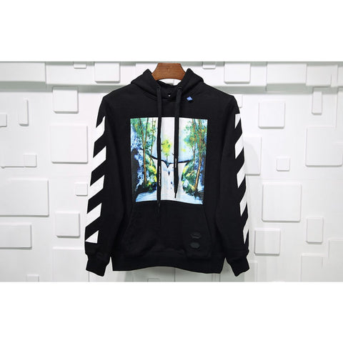 Off-White Waterfall Hoodie Black
