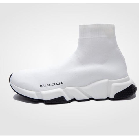 Balenciaga Wmns Speed Trainer Mid 'White Black'