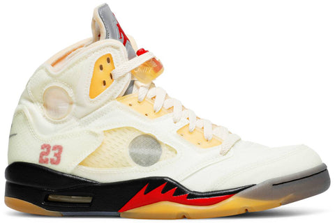 Off-White x Air Jordan 5 Retro SP 'Sail'