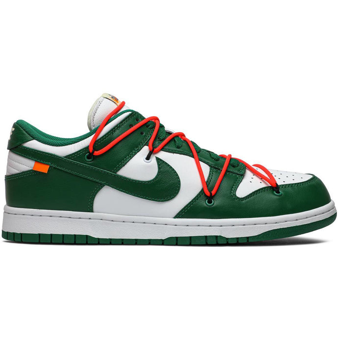 Off White X Dunk Low Pine Green