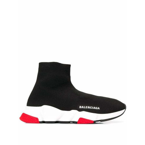 Balenciaga Speed Trainer Sock Race Runners Black White/Red