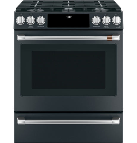 "Café™ 30"" Smart Slide-In, Front-Control, Dual-Fuel Range with Warming Drawer"