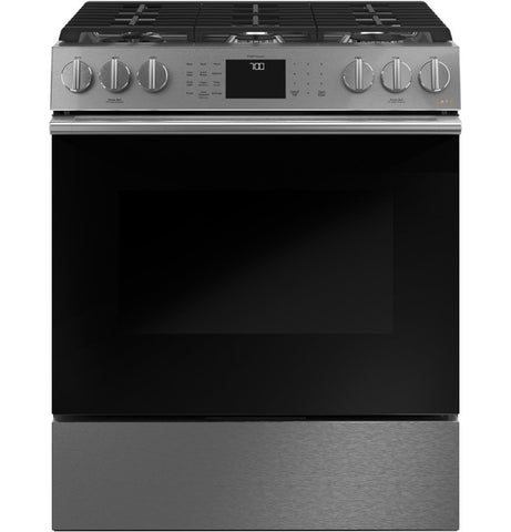 "Café™ 30"" Smart Slide-In, Front-Control, Gas Range with Convection Oven in Platinum Glass"
