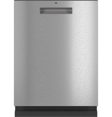 Café™ Stainless Steel Interior Dishwasher with Sanitize and Ultra Wash & Dry in Platinum Glass