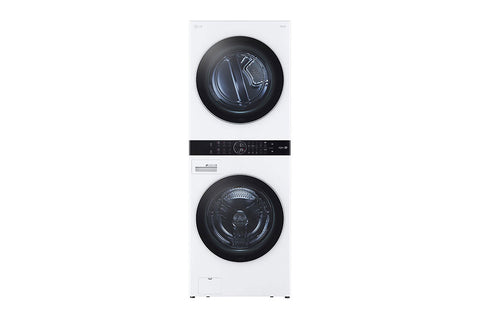 LG Single Unit Front Load LG WashTower™ with Center Control™ 4.5 cu. ft. Washer and 7.4 cu. ft. Gas Dryer