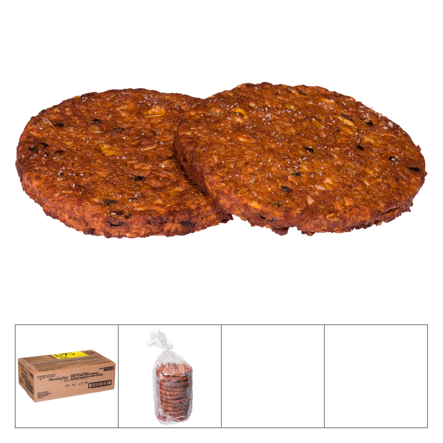 Morningstar Farm Frozen Spicy Black Bean Vegetarian Burger 93 g - 48 Pack [$1.34/each]