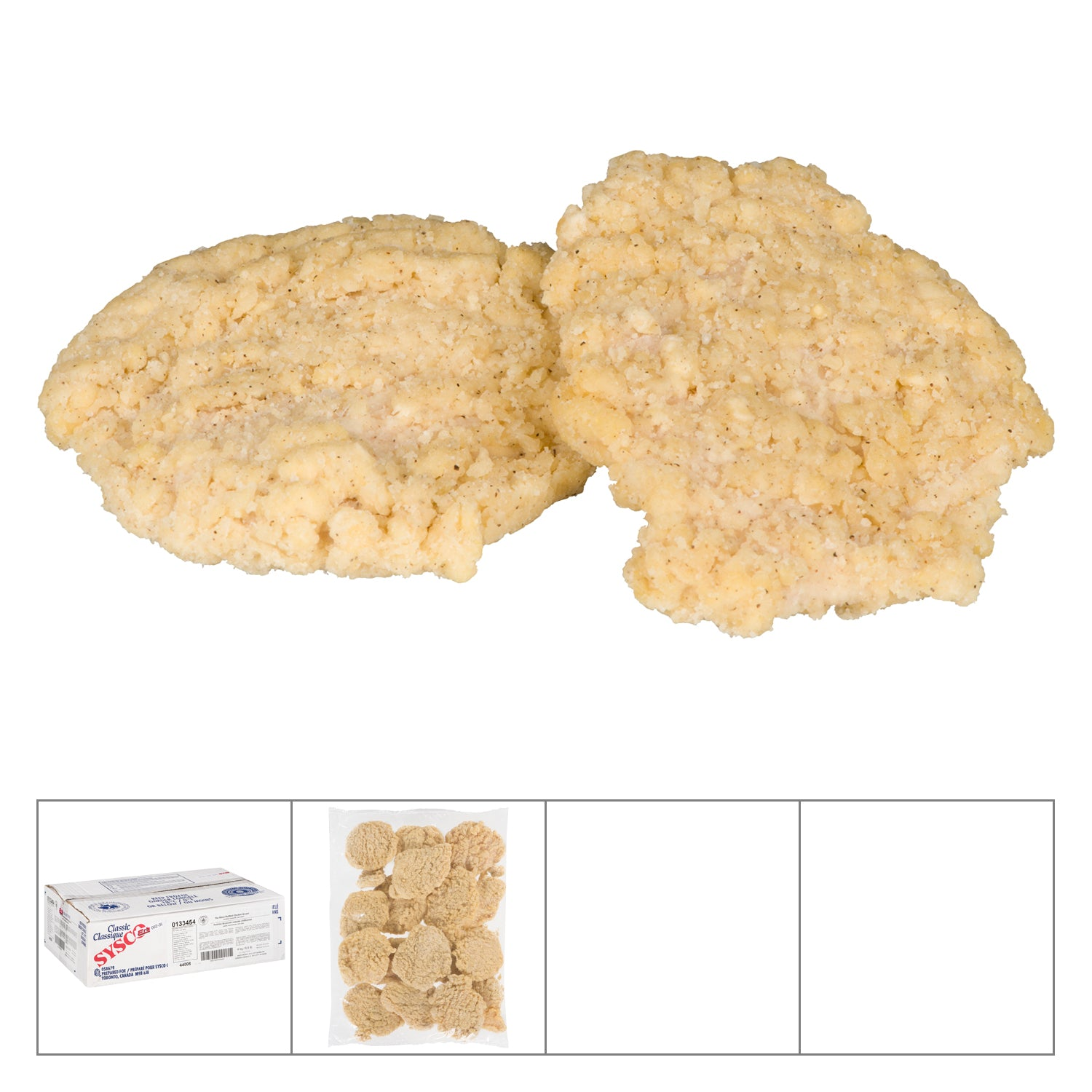 Sysco Classic Frozen Wave Breaded Chicken Breast 4.5 oz - 2 kg - 2 Pack [$17.60/kg]