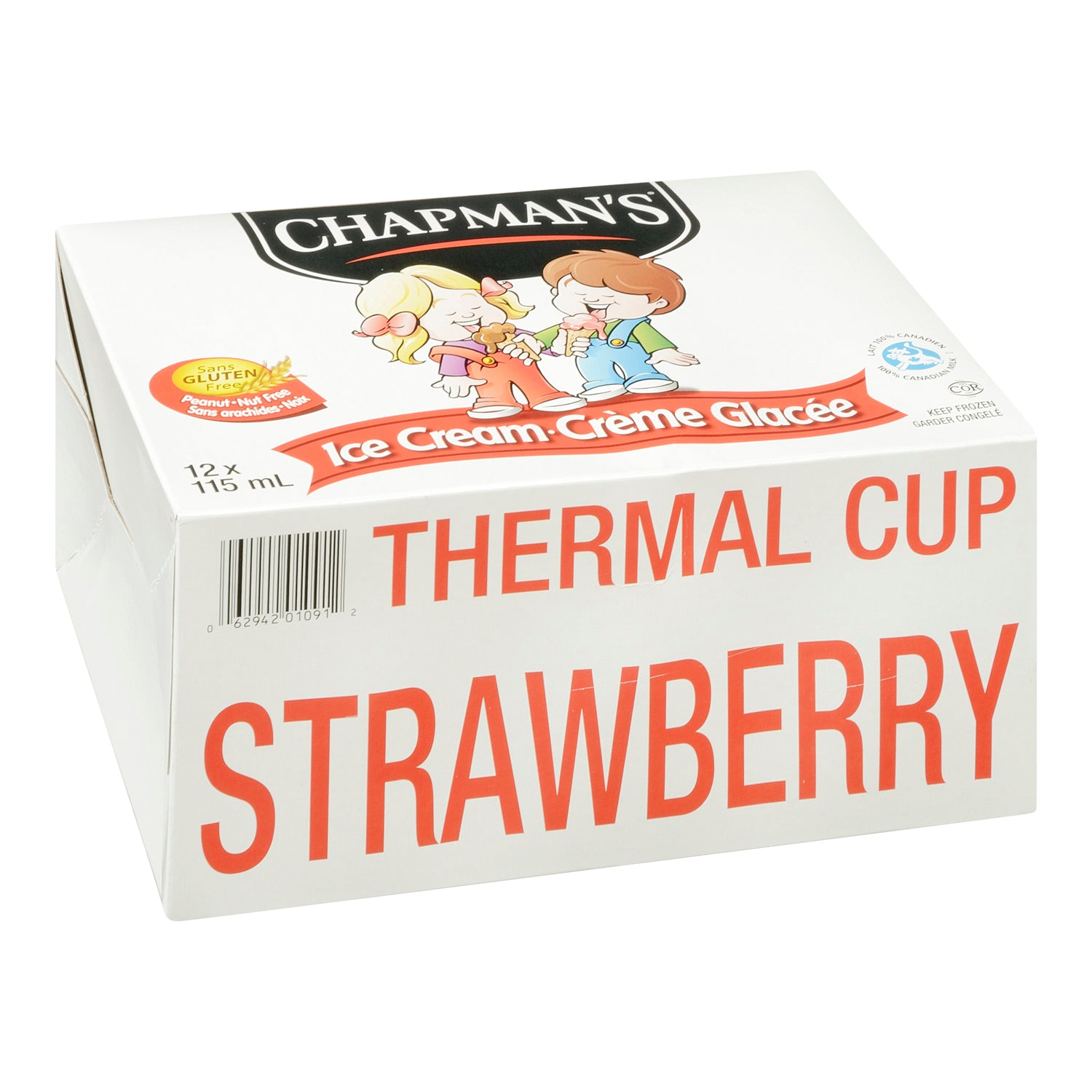 Chapman's Frozen Strawberry Ice Cream Cups 115 ml - 24 Pack [$0.54/each]