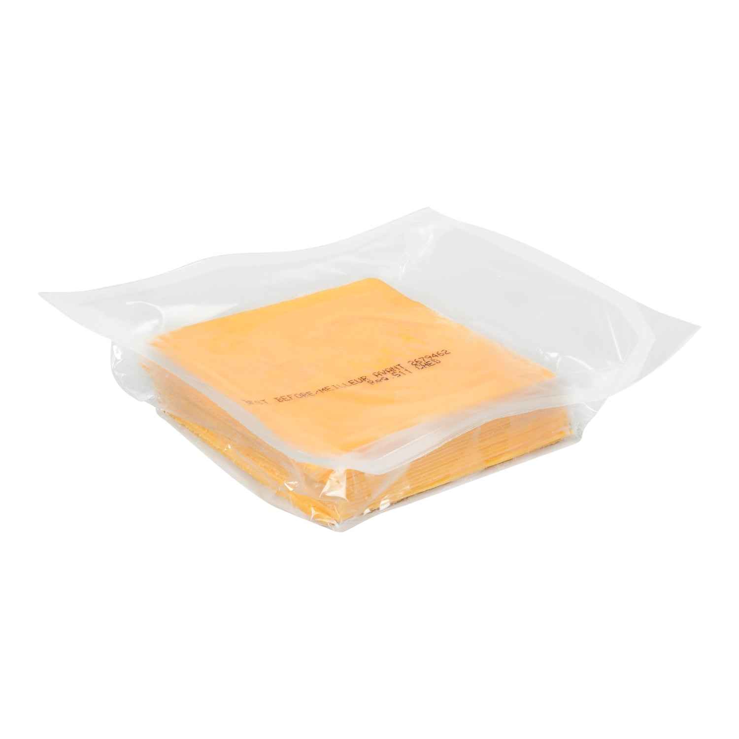 Sysco Block & Barrel Sliced Medium Cheddar Cheese 250 g - 16 Pack [$4.87/pack]