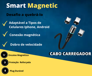 Cabo Carregador - TC -EMVO- Smart  Magnetic  Charger