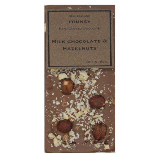 Milk Chocolate with Hazelnut 80g - Fruney