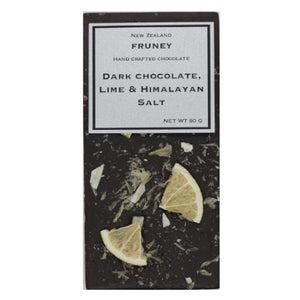 Dark Chocolate with Lime & Himalayan Salt 80g - Fruney