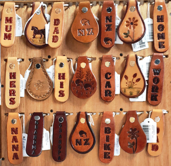 Leather Key Rings - Words