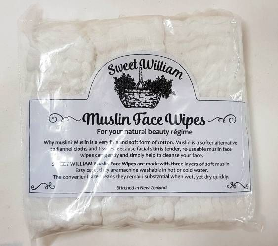 Muslin Face & Skin Wipes - Sweet William