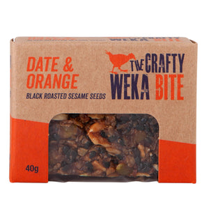 Date & Orange Bite Size Bar 40g - Crafty Weka Bar