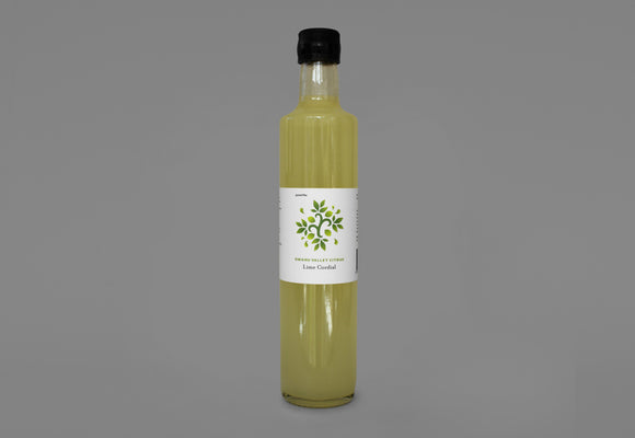 Lime Cordial 500ml - Omahu Valley Citrus