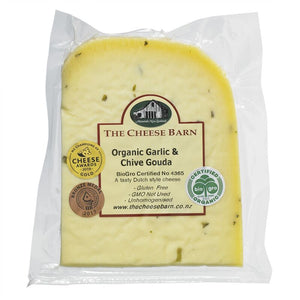Organic Garlic & Chives Gouda - The Cheese Barn