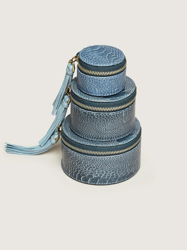 Pill Box Set - Ahos Blue Jean