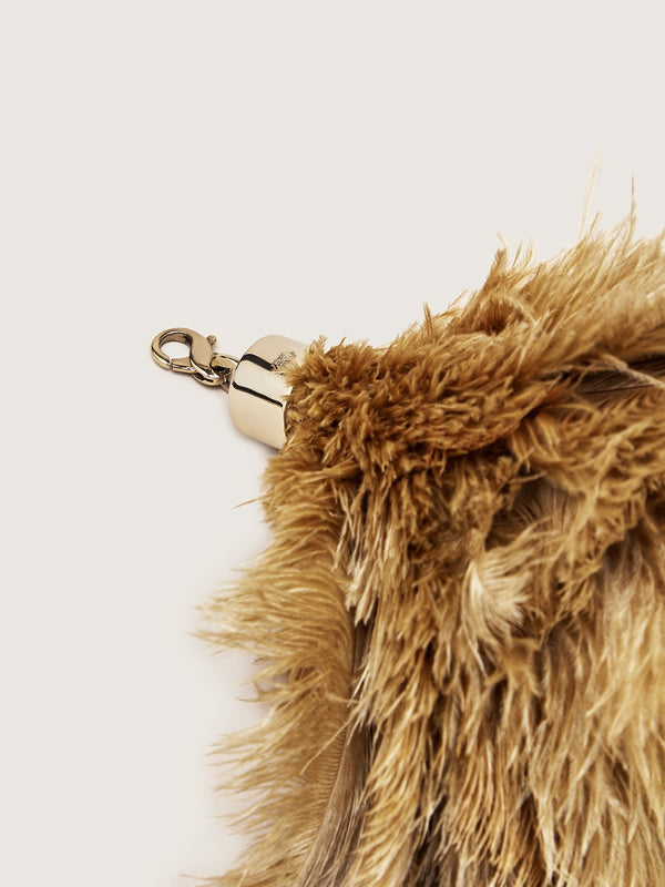 Ostrich Feather Charm - Natural