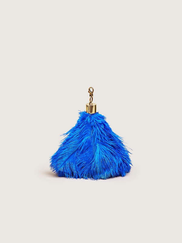 Ostrich Feather Charm - Blue