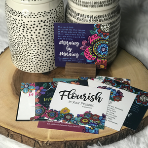 Flourish in Your Present Scripture Card Set