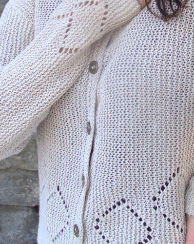#304 Lace Diamond Trellis Cardigan & Pullover