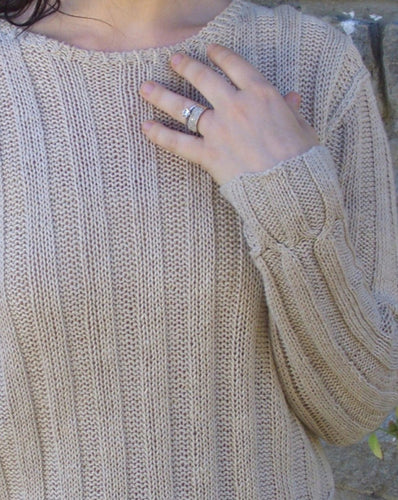 #314  Cable Cross Pullover