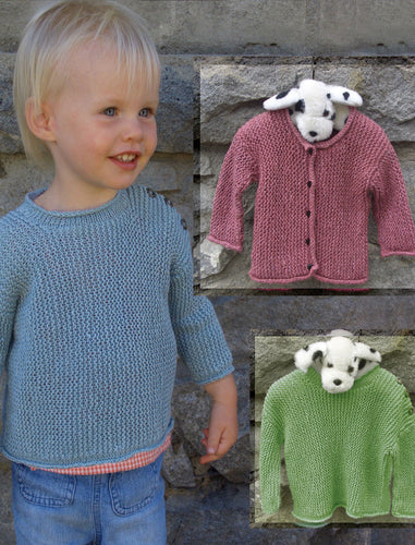 #318 Baby Garter Stitch Pullover and Cardi