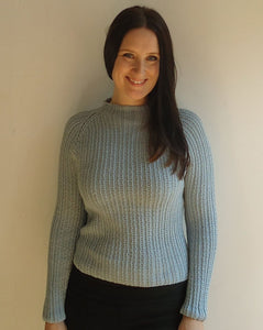#324 Chic Seed Stitch Ribbed Pullover